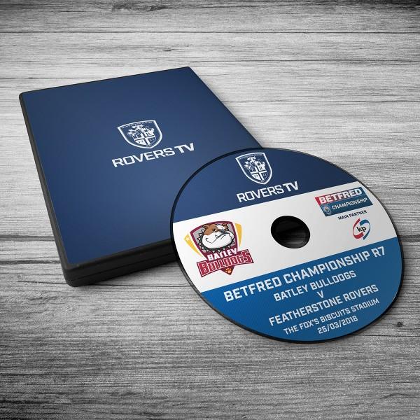 MATCH DVD: ROVERS V BATLEY (ROUND 7)