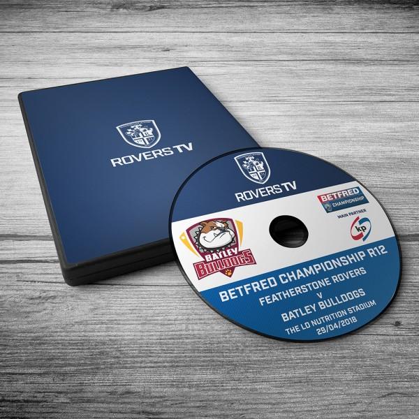 MATCH DVD: ROVERS V BATLEY (ROUND 12)