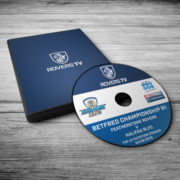 MATCH DVD: ROVERS V HALIFAX (2018 ROUND 1)