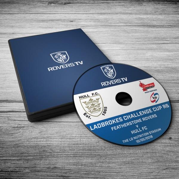 MATCH DVD: ROVERS V HULL FC (CC RD6)