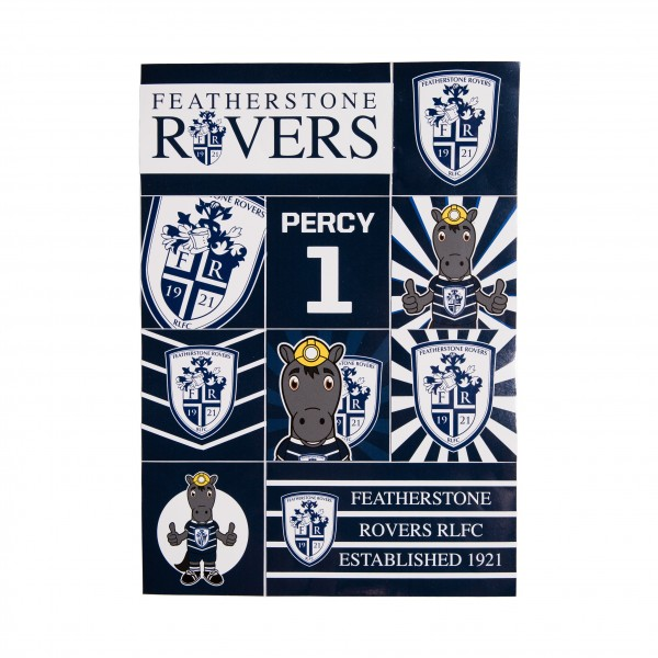 FEATHERSTONE ROVERS 10 STICKER PACK