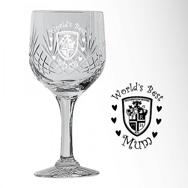 World's Best Mum Wine Glass