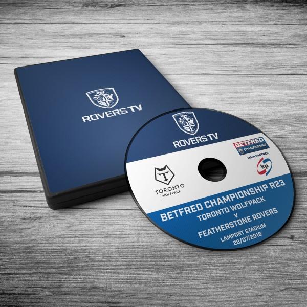 MATCH DVD: ROVERS V TORONTO (ROUND 23)